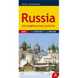 Venäjä ja lähialueet tiekartta