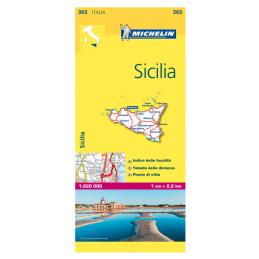 Michelin Sicilia tiekartta