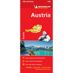 Michelin Itävalta tiekartta