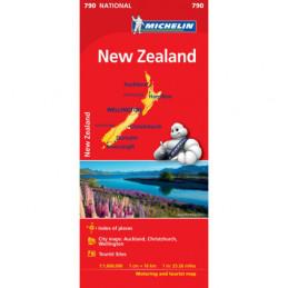 Michelin Uusi-Seelanti kartta