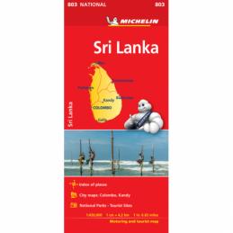 Michelin Sri Lanka tiekartta
