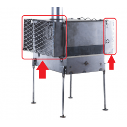 Savotta stone rack for stove