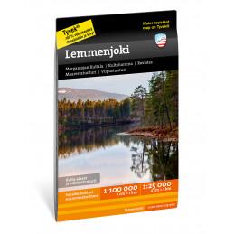 Calazo map of Lemmenjoki...