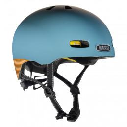 Nutcase Blue steel helmet