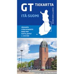 GT tiekartta Itä-Suomi, 2020