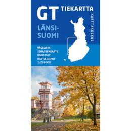GT tiekartta Länsi-Suomi,...